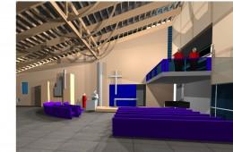 Bøler kirke : Perspektiv interiør