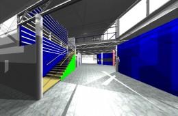 Flyterminal Ørlandet : Perspektiv interiør