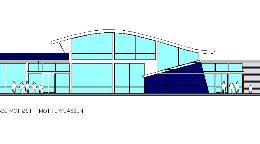 Flyterminal Ørlandet : Fasade
