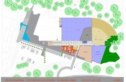Idrettshall Slettebakken, Bergen : Plan 2.etg