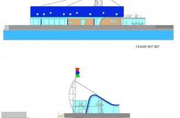 Tingvallautstikkeren, Aker brygge Oslo : Fasader